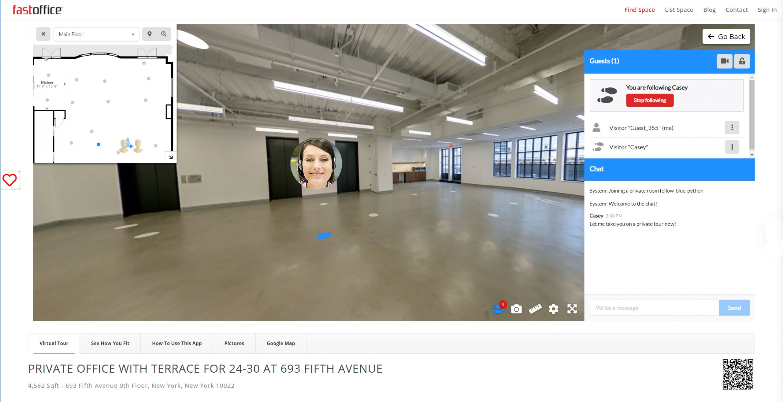 fastoffice how to rent your space fast - virtually tour