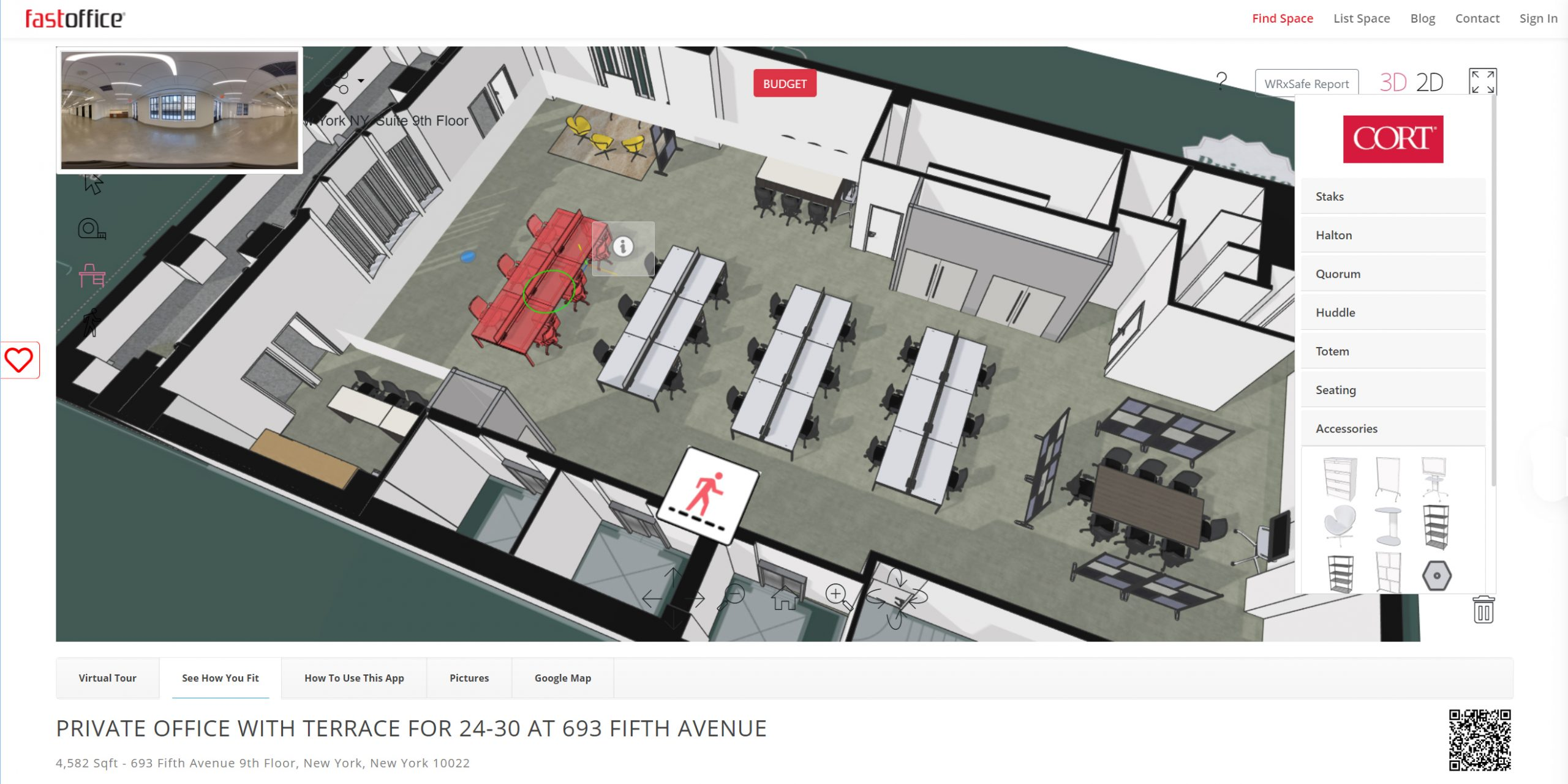 how to rent your space with fastoffice - step 2 customize the layout