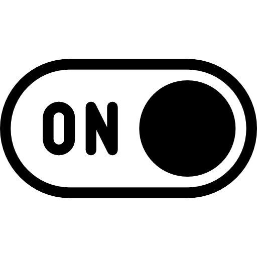 icon for on button toggle
